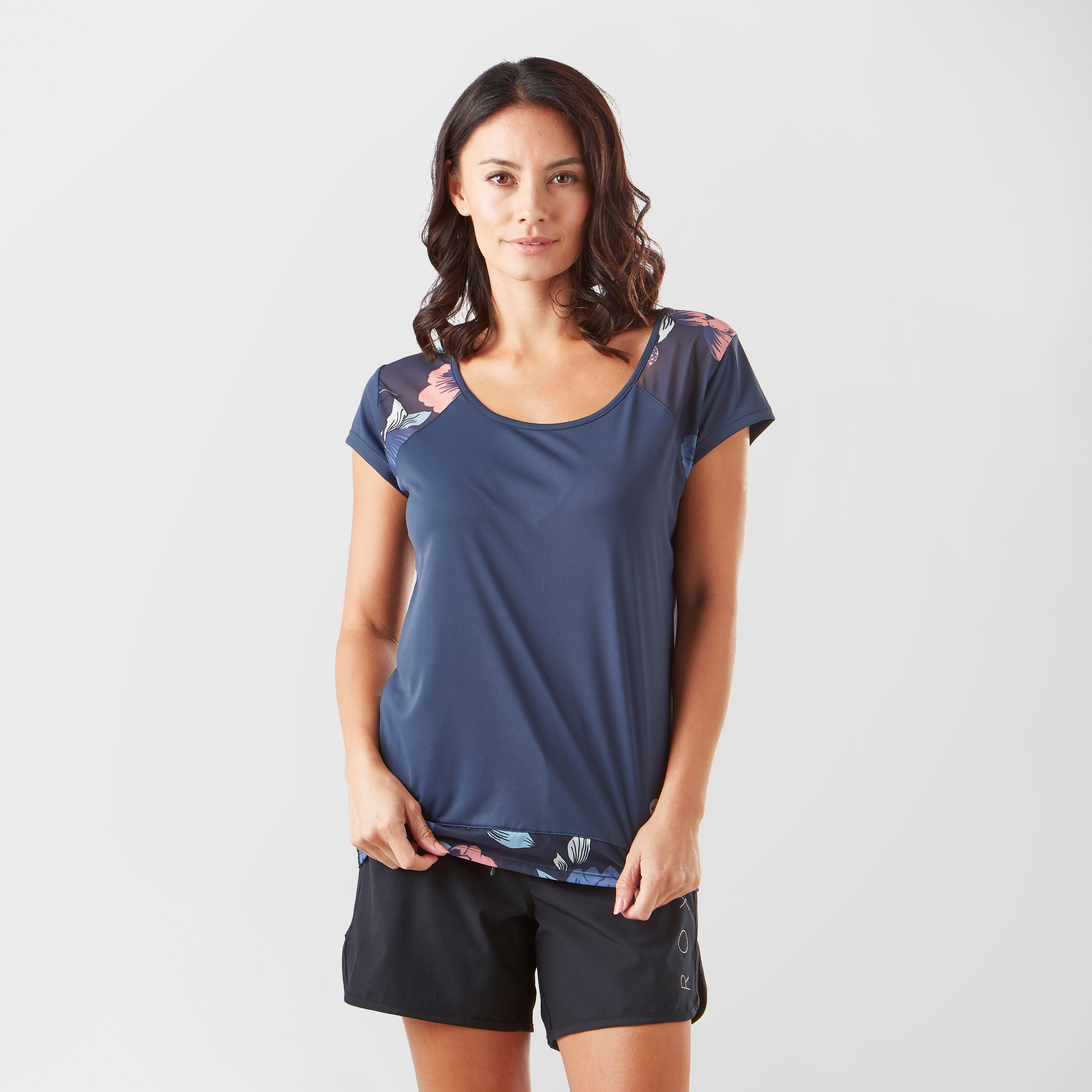 Roxy Roxy Womens Liquid Sunshine T-Shirt - Navy, Navy