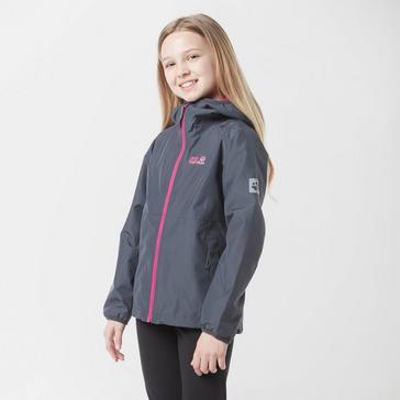 Grey|Grey Jack Wolfskin Kids' Mount Luna Waterproof Jacket