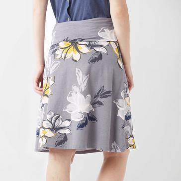 Grey|Grey Weird Fish Women's Malmo Printed Jersey Skirt