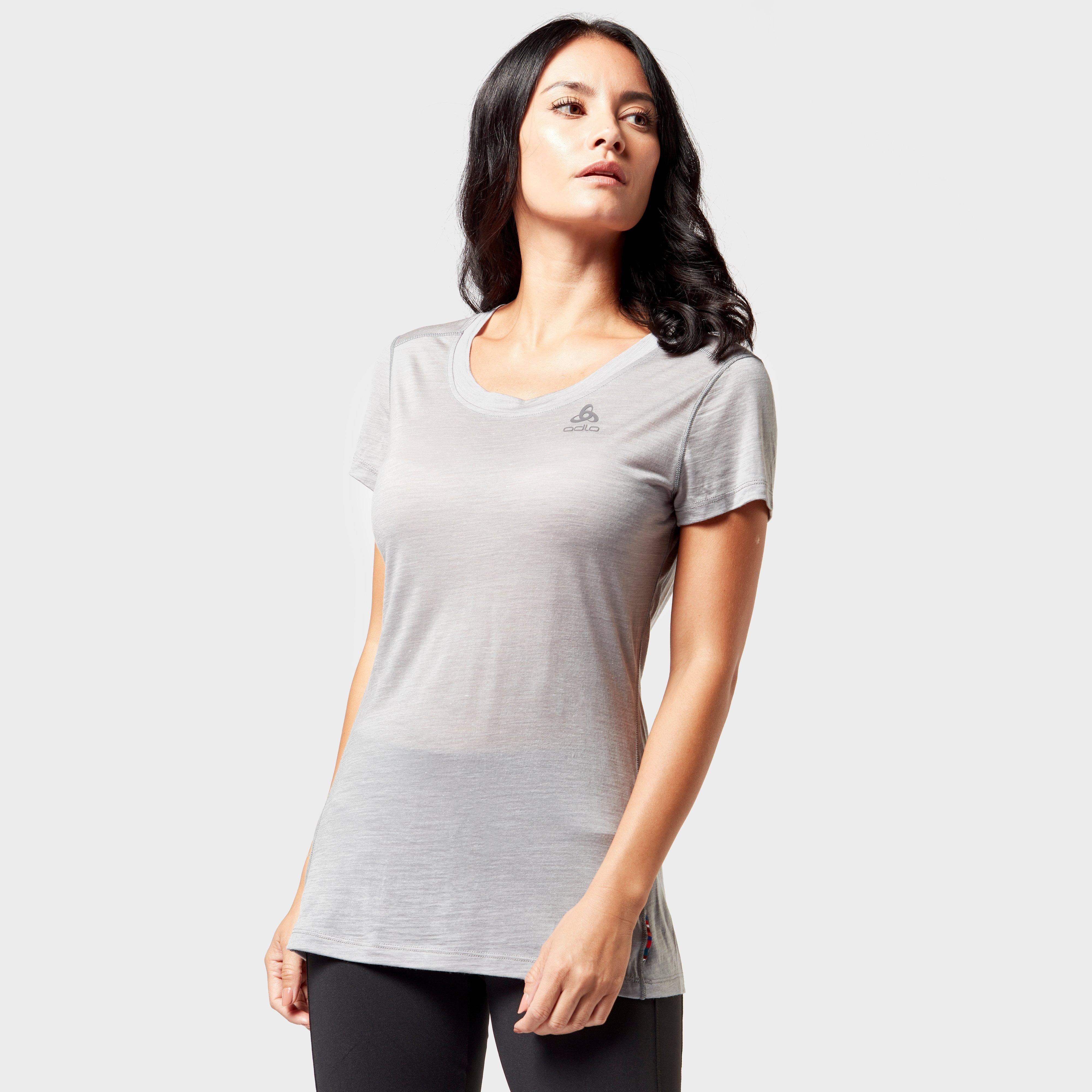 Odlo Odlo Womens Natural + Light Baselayer Crew - Grey, Grey