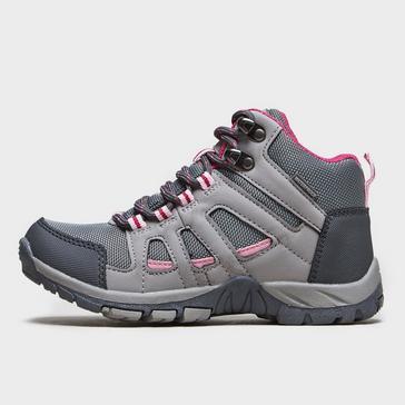 Grey|Grey Peter Storm Girls' Headley Waterproof Mid Walking Boot