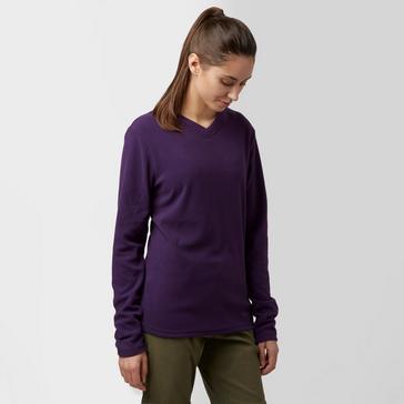 Purple Peter Storm Women's Grasmere V Neck Fleece