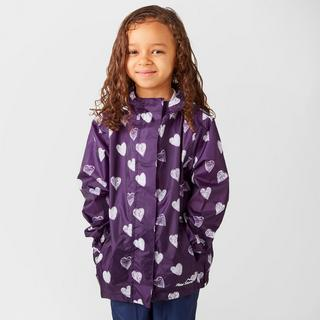 Kid's Packable Patterned Waterproof Jacket