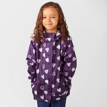 Purple Peter Storm Kids' Patterned Packable Jacket