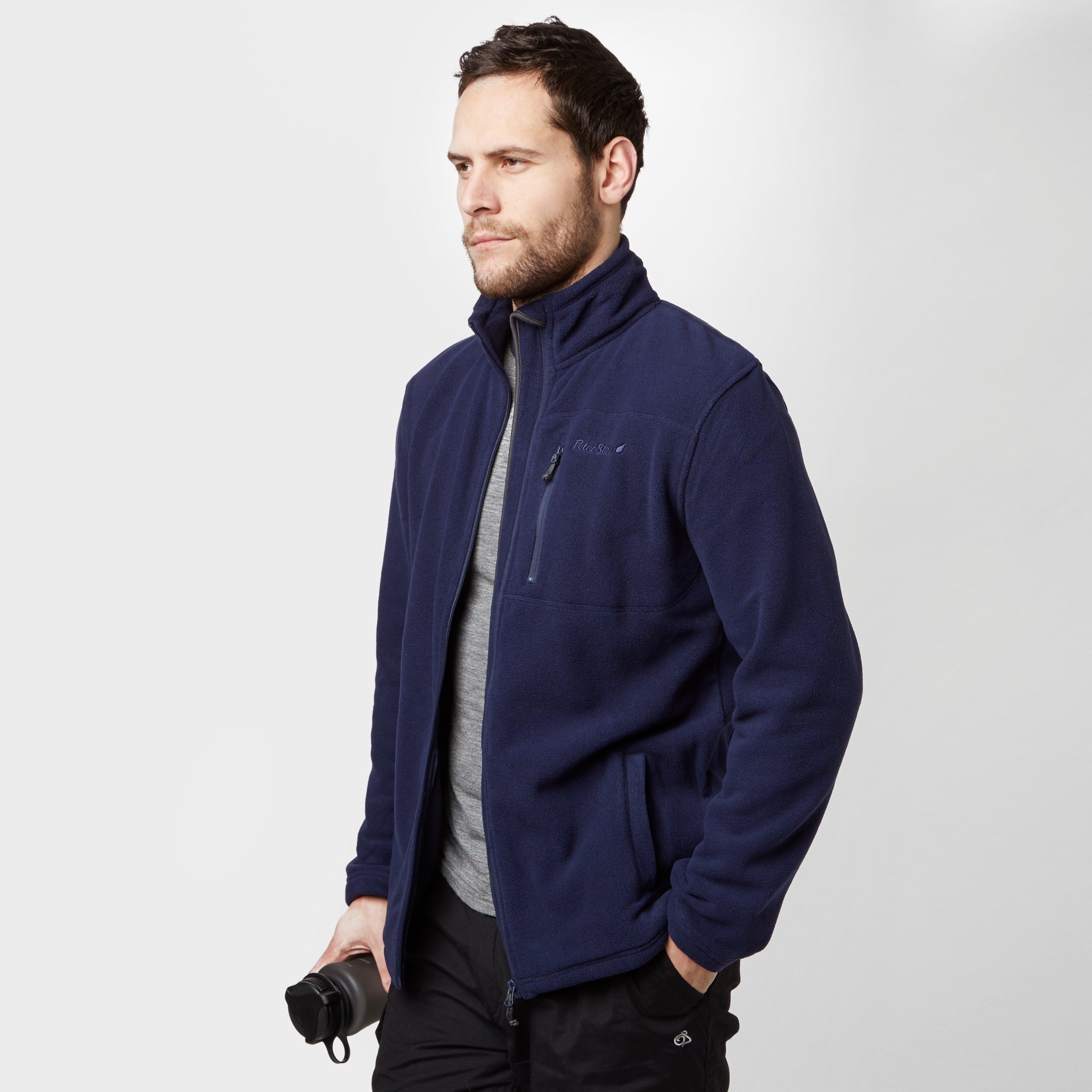 Peter Storm Mens Ambleside Full Zip Fleece Jake Combie Blue Grey Next