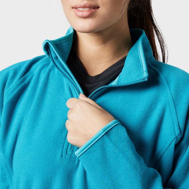 New Peter Storm Women's Half Zip Micro Stripe Fleece