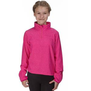 PETER STORM Girls' Half Zip Mini Stripe Fleece
