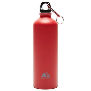 Red Eurohike Aqua 0.75L Aluminium Bottle