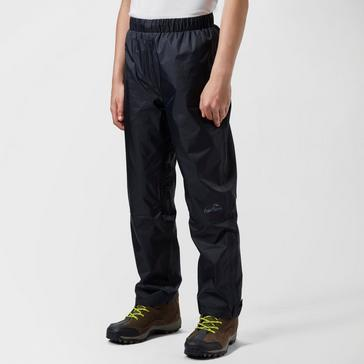 Black Peter Storm Kids' Unisex Waterproof Overtrousers
