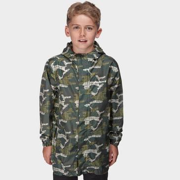 Green Peter Storm Kids' Camo Packable Jacket