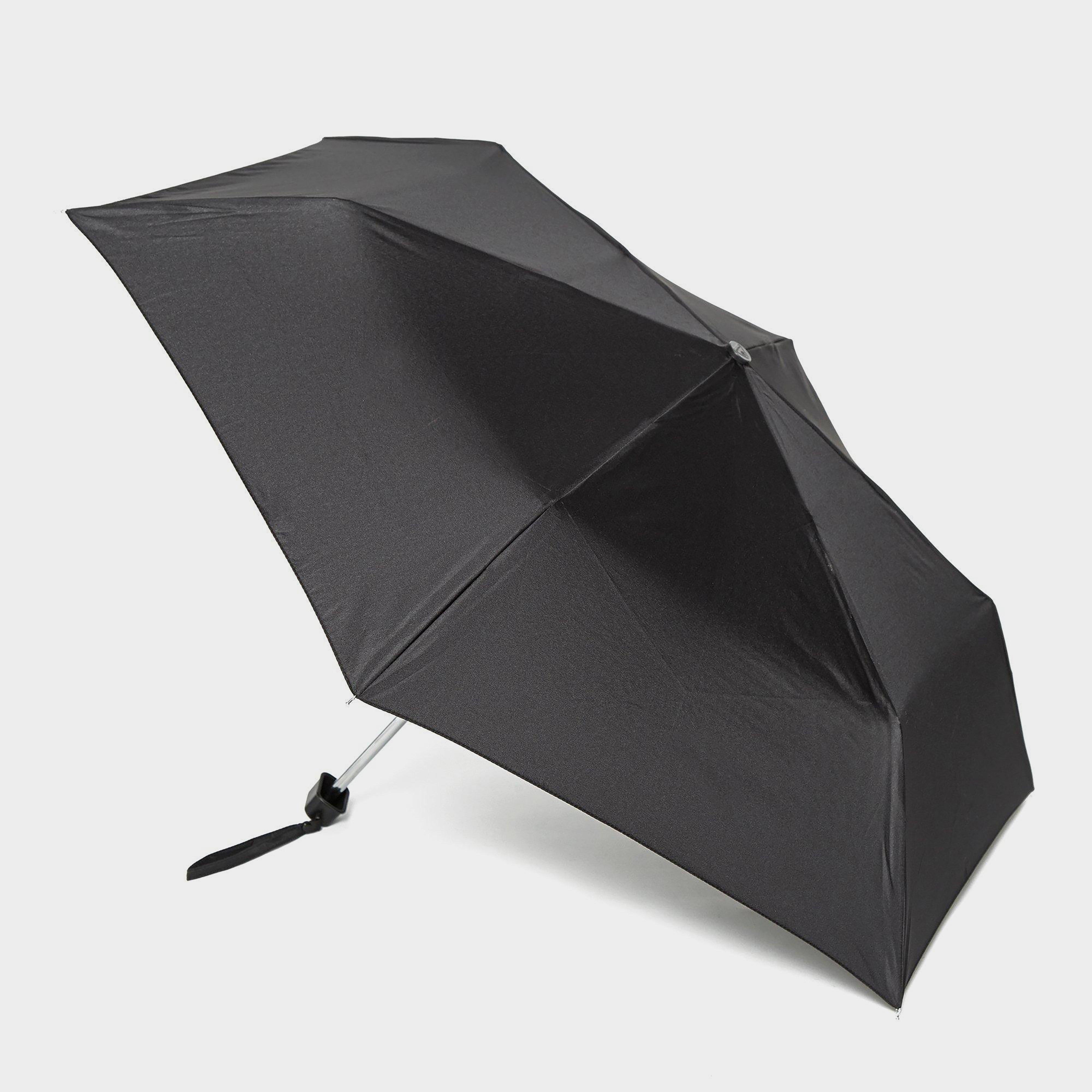 Fulton Fulton Mini-Flat 1 Umbrella - Black, Black