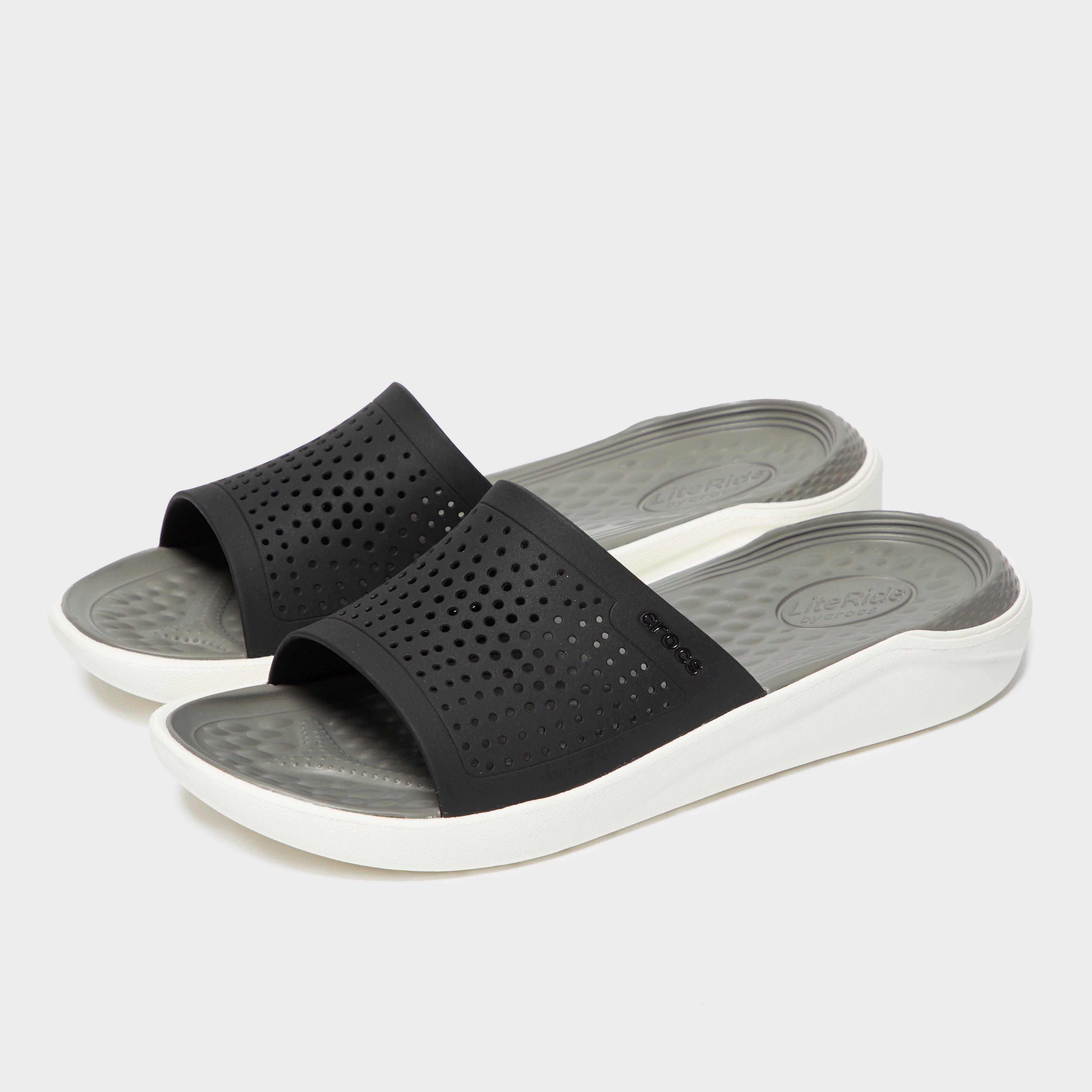 Crocs Men's Literide Slide - Black/White, Black/White