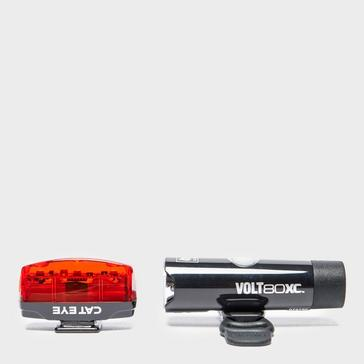 Black Cateye Volt 80 XC and Rapid Micro Bike Lights