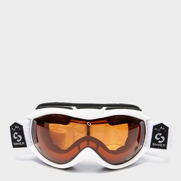 10e7ca9efd4 White SINNER Toxic Snow Sports Goggles ...