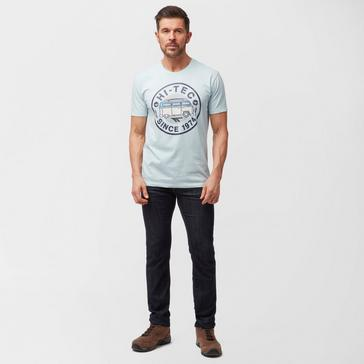 Grey|Grey Hi Tec Men's Split Screen T-Shirt