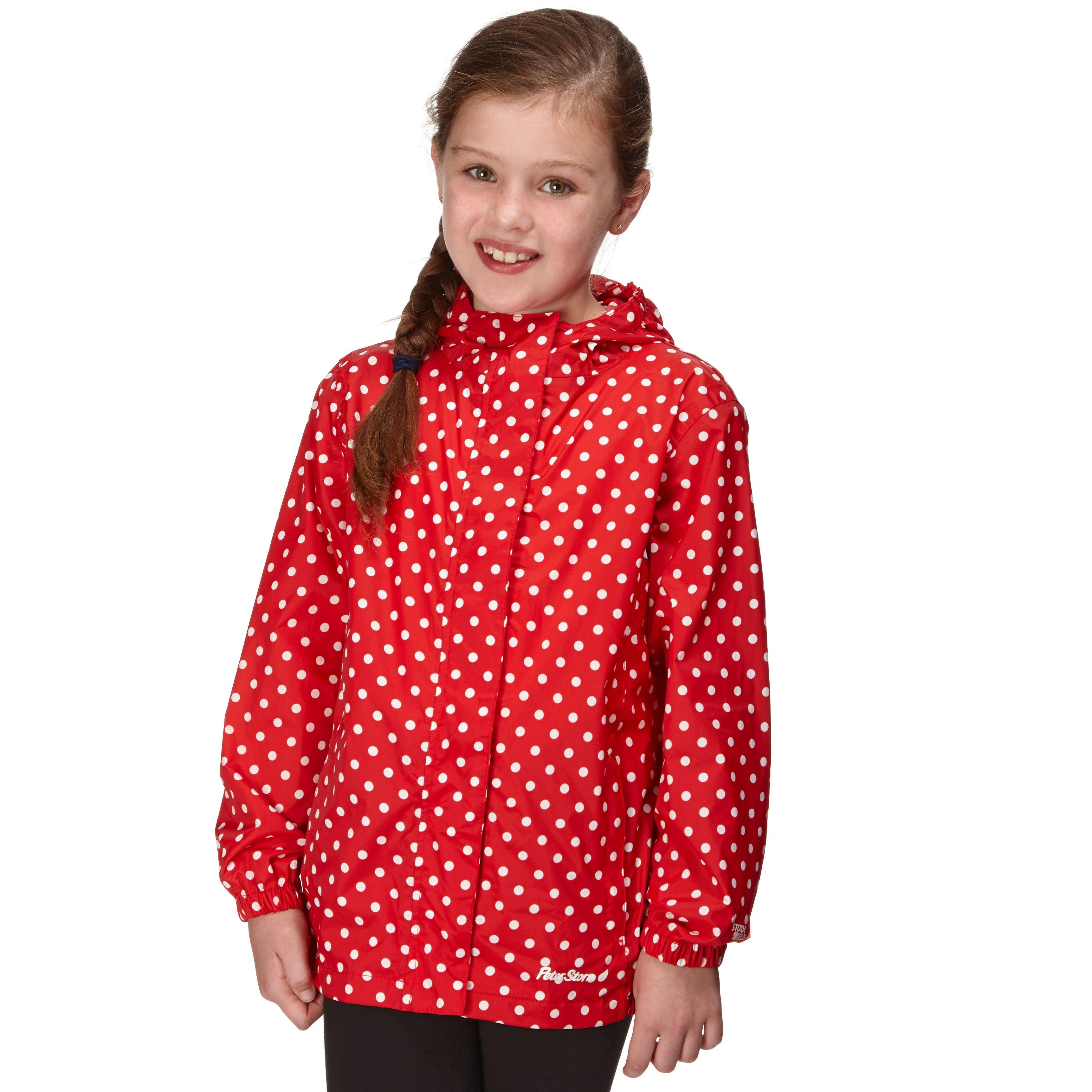 PETER STORM Girl's Packable Patterned Waterproof Jacket