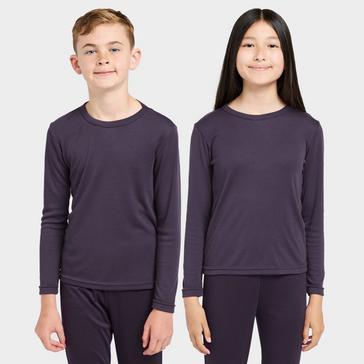 Purple Peter Storm Girls' Long Sleeve Thermal Crew Baselayer Top
