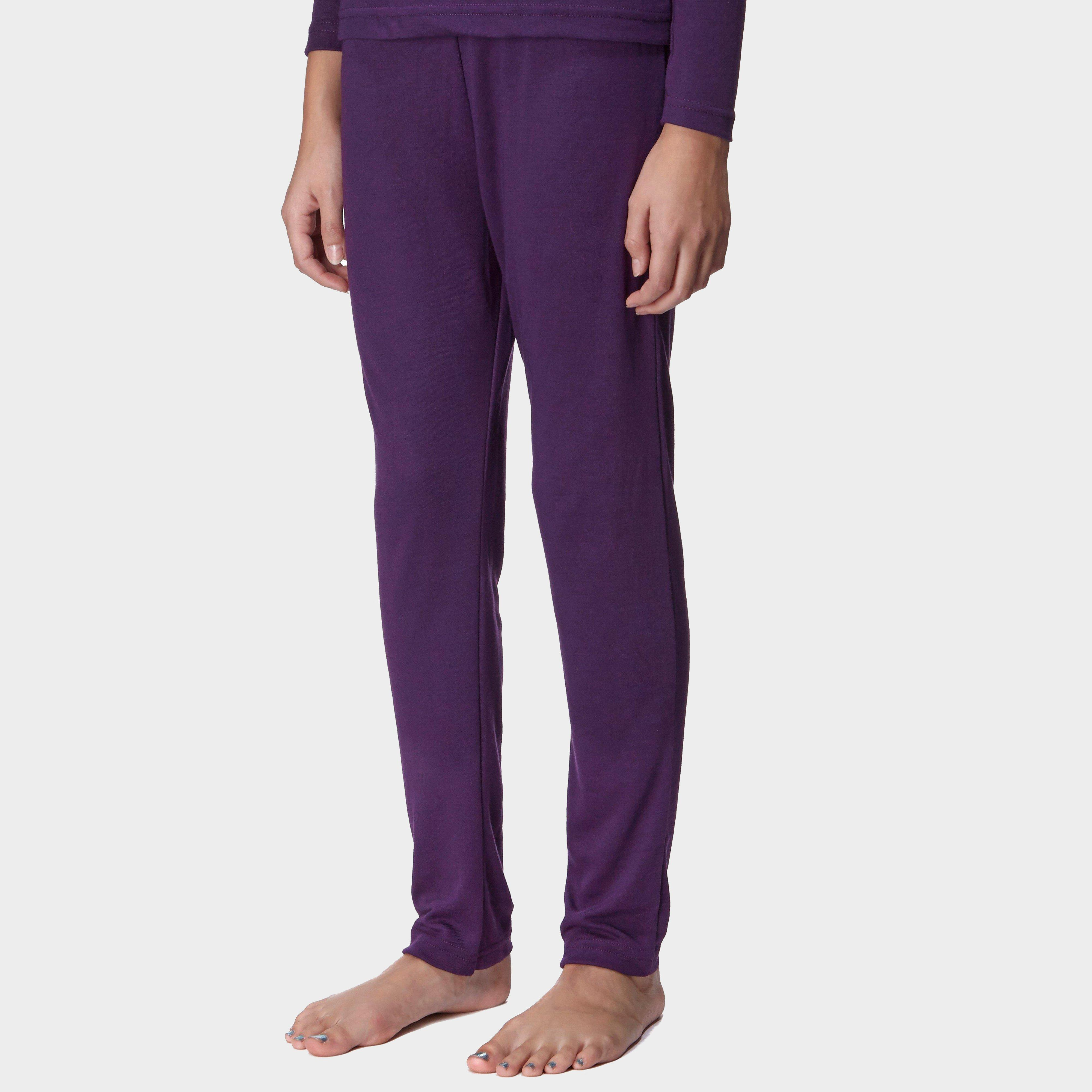 Image of Peter Storm Kids € Unisex Thermal Baselayer Pants - Purple/Purple, Purple/Purple