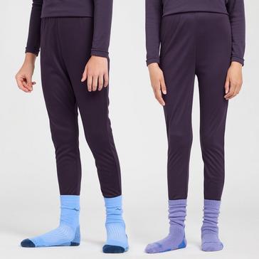 Purple Peter Storm Girls' Thermal Baselayer Pants