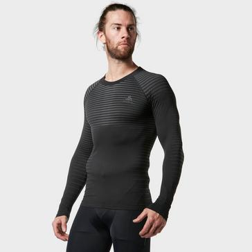Black Odlo Men's Performance Light Long Sleeve Top