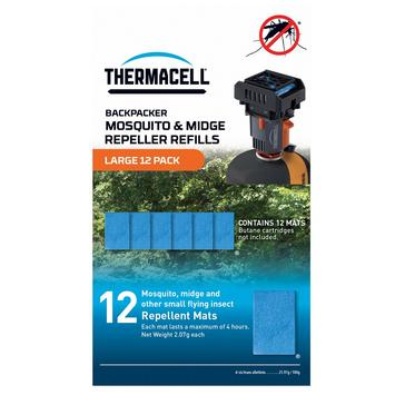 Blue THERMACELL Backpacker Mosquito Repellent Refill Mats – 12 Pack