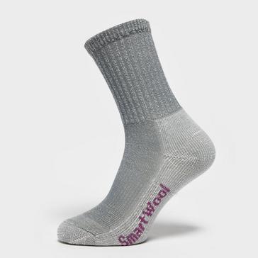 Grey|Grey Smartwool Women's Hike Light Crew Socks