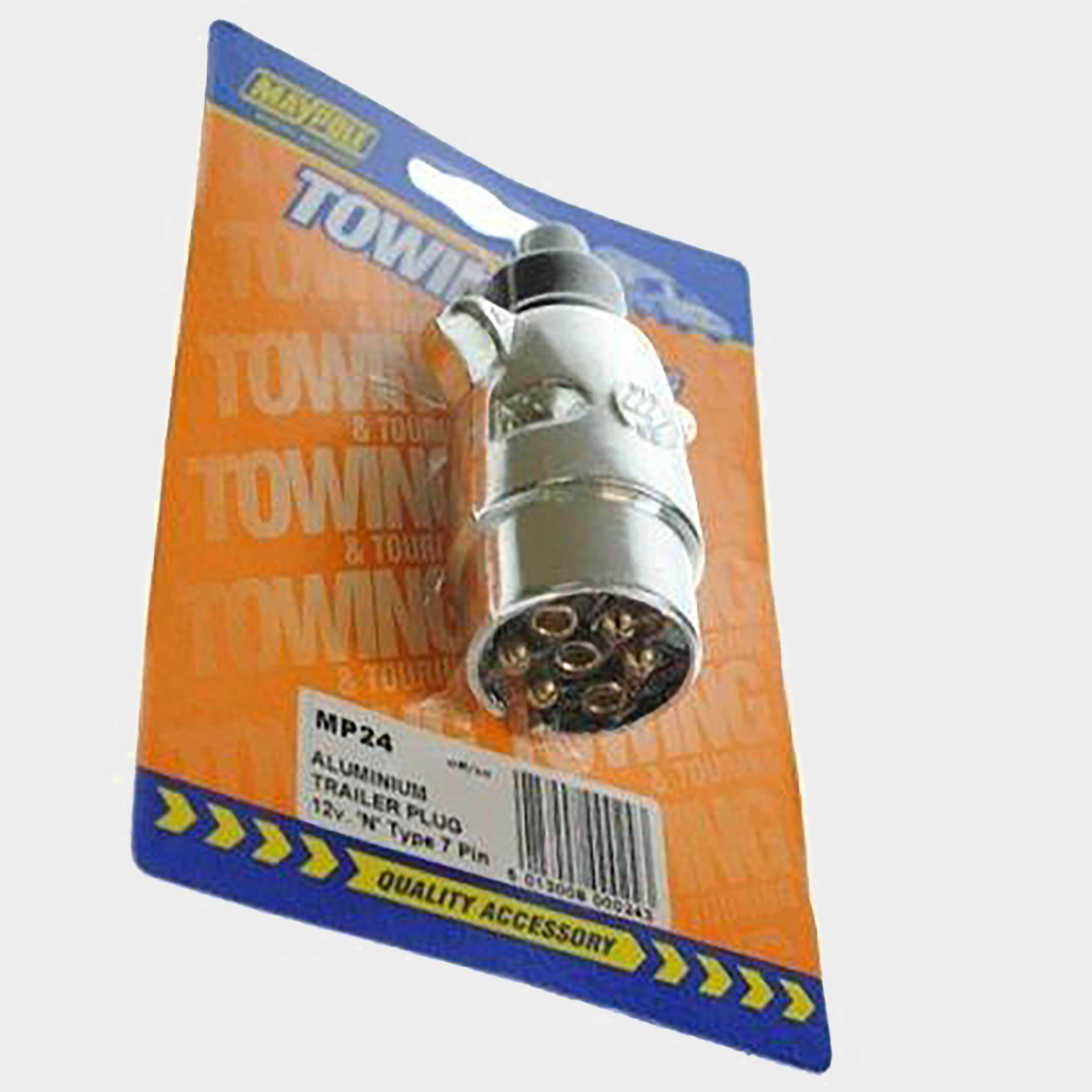 MAYPOLE 12N 7 Pin Aluminium Plug