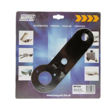 Black Maypole Single Socket Mounting Plate