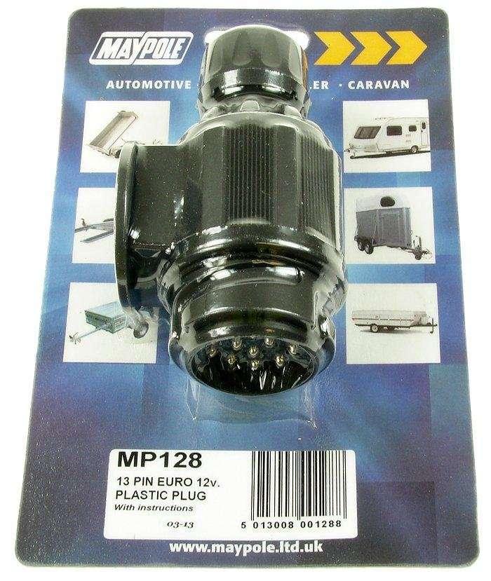 MAYPOLE 12v 13 Pin Plastic Plug Connector