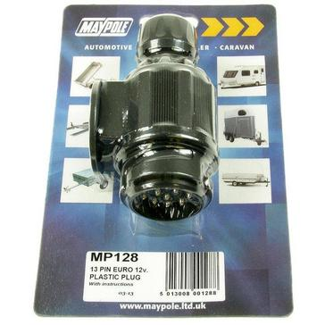 Black Maypole 13 Pin Plastic European Plug Connector