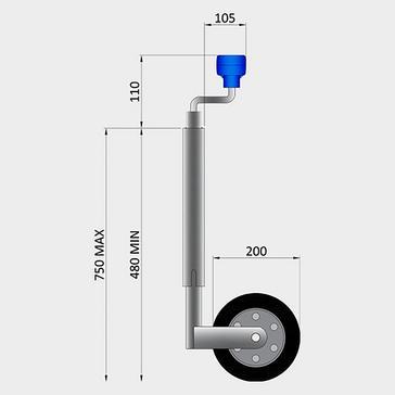 Multi Maypole Jockey Wheel HW 42mm