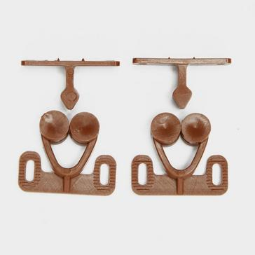 Brown W4 Double Roller Catch 2 Pack