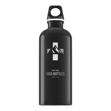 Black Sigg Water Bottle Mountain 0.6L