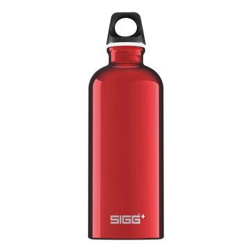 Red Sigg Water Bottle Traveller 0.6L