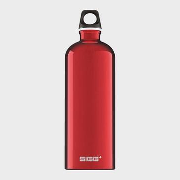 RED Sigg Water Bottle Traveller 1L