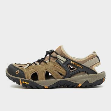 Brown Merrell Men's All Out Blaze Sieve Walking Sandal