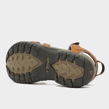 Brown Teva Women's Tirra Leather Sandal