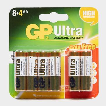 Multi GP Batteries Ultra Alkaline AA Batteries 8+4 Pack