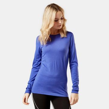 Blue Icebreaker Women's Oasis Long Sleeve Crewe