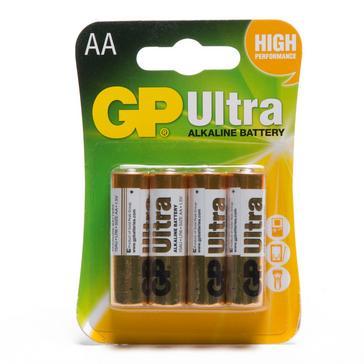 Multi GP Batteries Ultra Alkaline AA 4 Pack