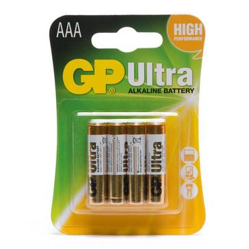 Multi GP Batteries Ultra Alkaline AAA 4 Pack