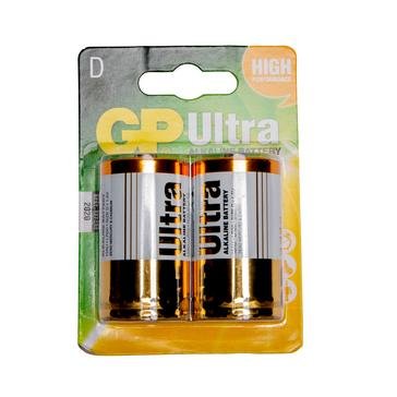 Multi GP Batteries Ultra Alkaline D 2 Pack