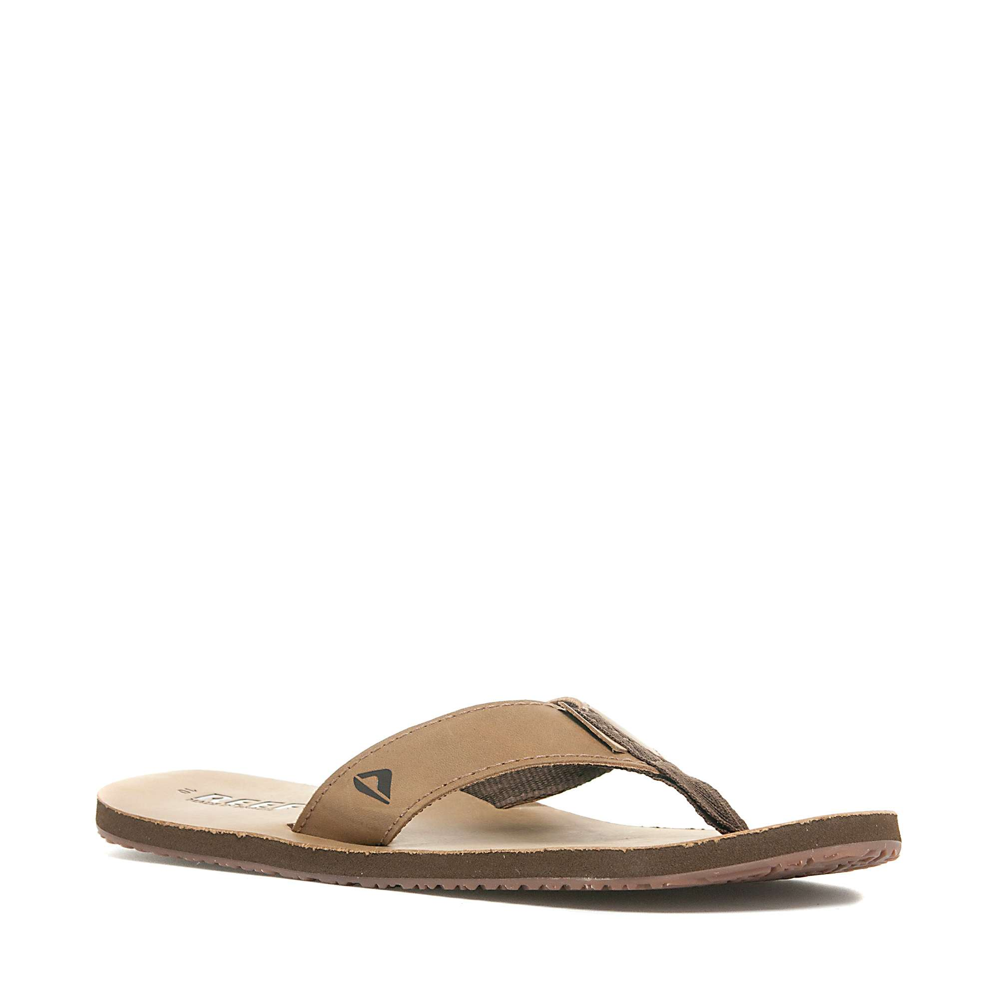 REEF Men's Leather Smoothy Flip Flop