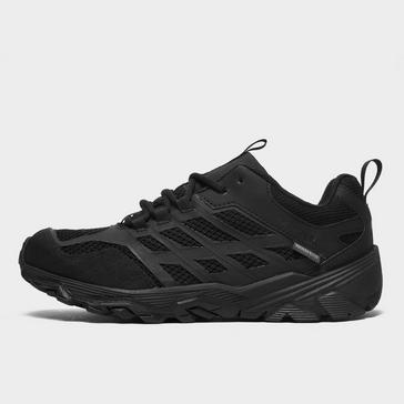 Black Merrell Kids' Moab FST Low Waterproof Shoes