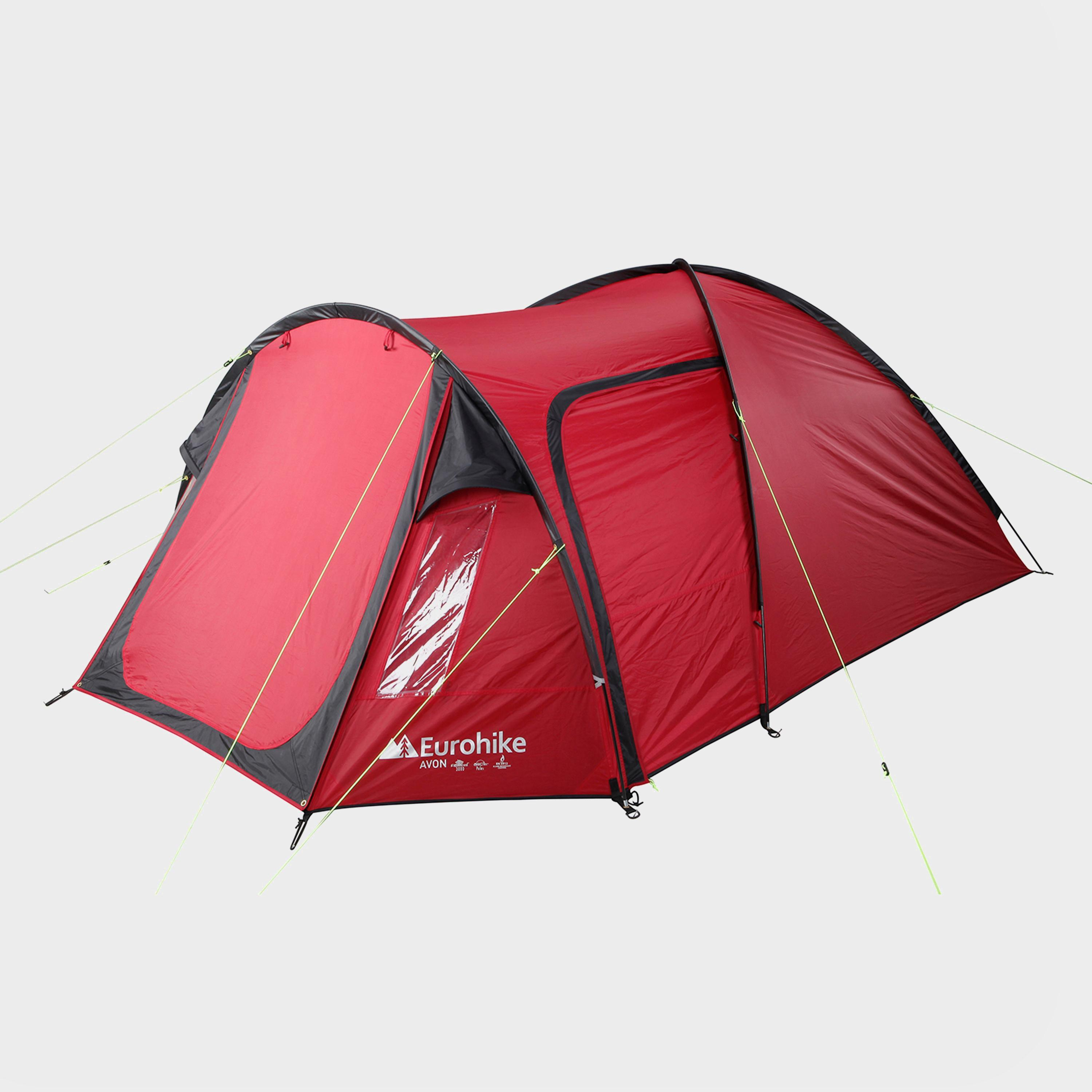 Red EUROHIKE Avon DLX 3 Man Tent & Equipment   Festival Tents   Ultimate Outdoors