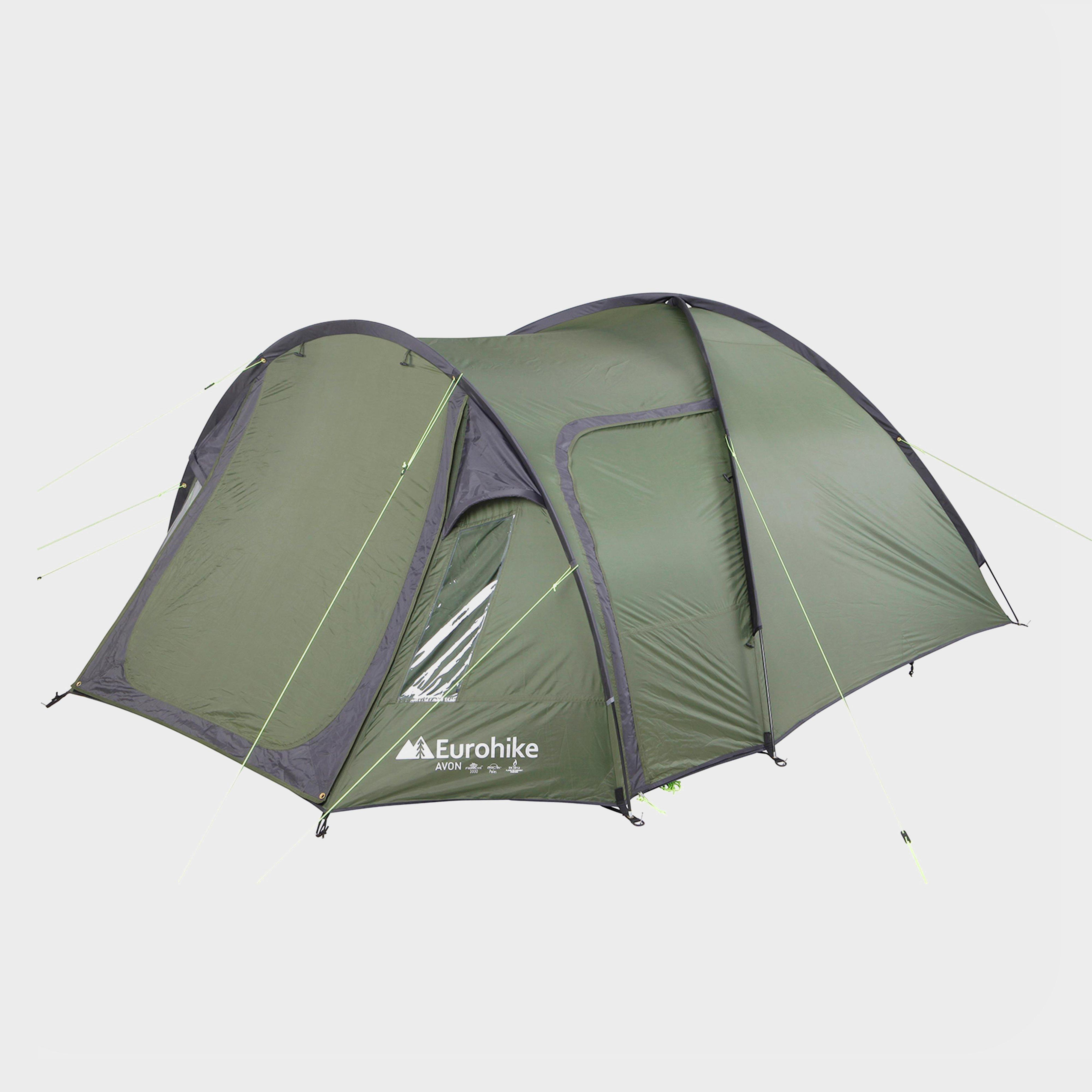 Green EUROHIKE Avon Deluxe 3 Person Tent ... & 3 Man Tent | 3 Person Tents | Millets