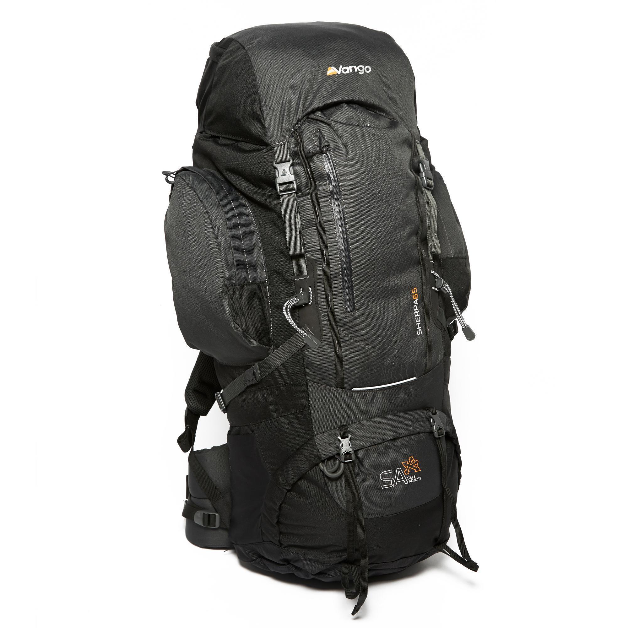 898d912979 Vango Sherpa 65 Litre Trekking Rucksack Black
