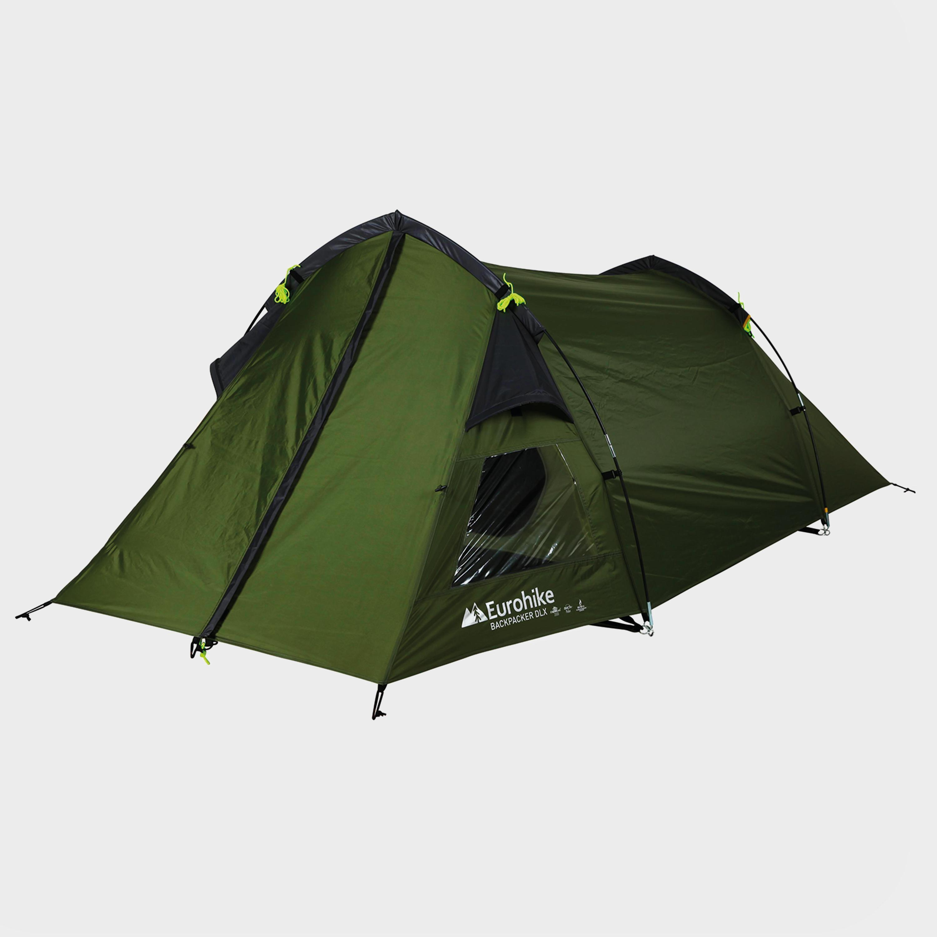 Green EUROHIKE Backpacker DLX 2 Man Tent & Equipment | Camping | Tents | 2 Person Tents