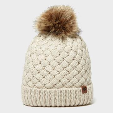 Beige Alpine Women's Beth Bobble Hat