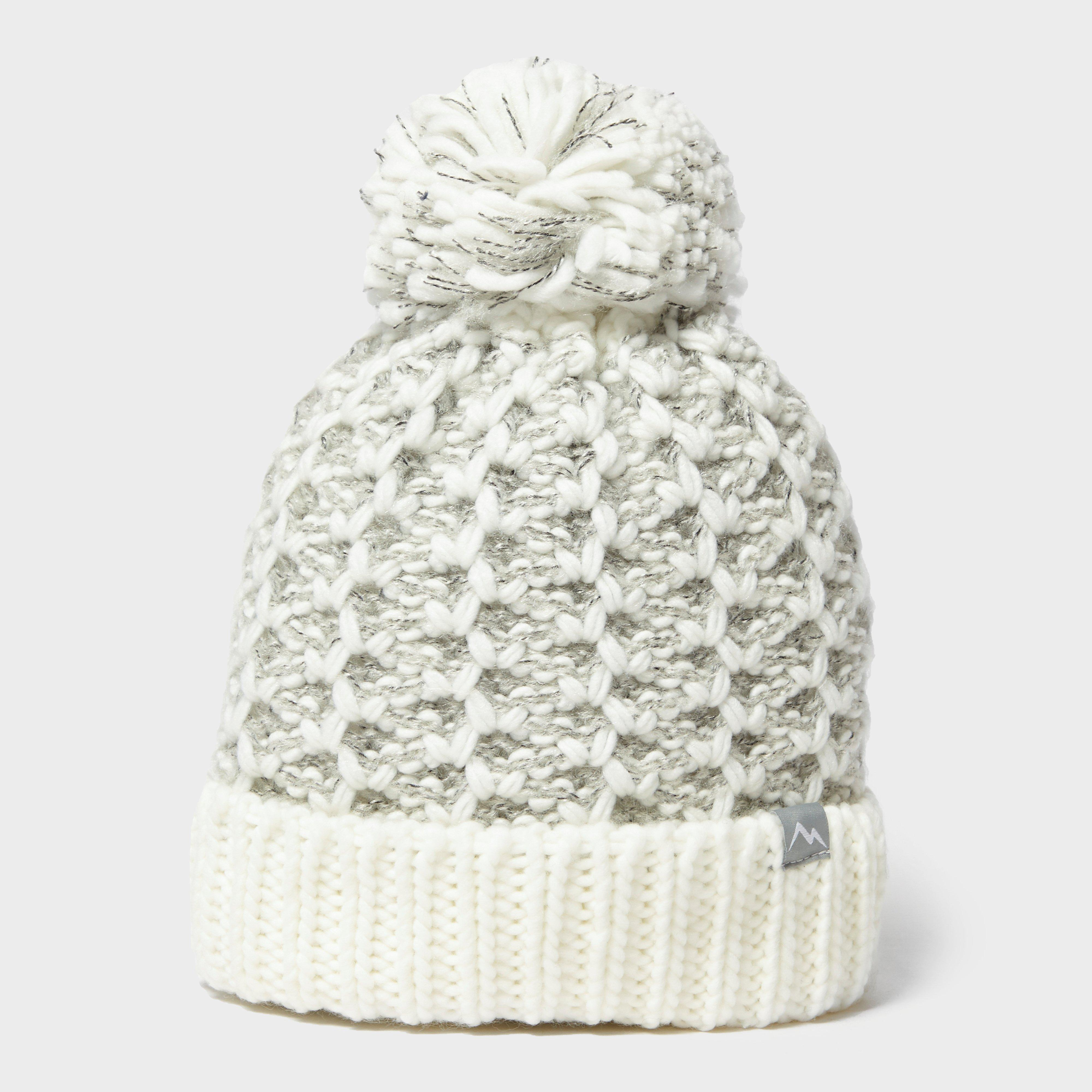 Adults Unisex Striped Cable Knit Winter Bobble Hat HA519